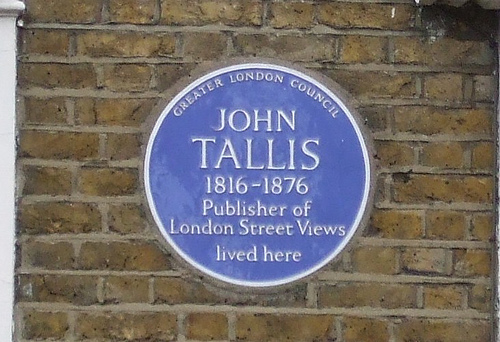 Blue plaque John Tallis
