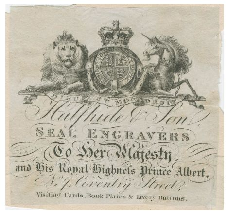 c.1840 trade card ©Fitzwilliam