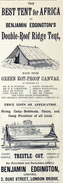 1893 Advert (Source: gracesguide.co.uk)