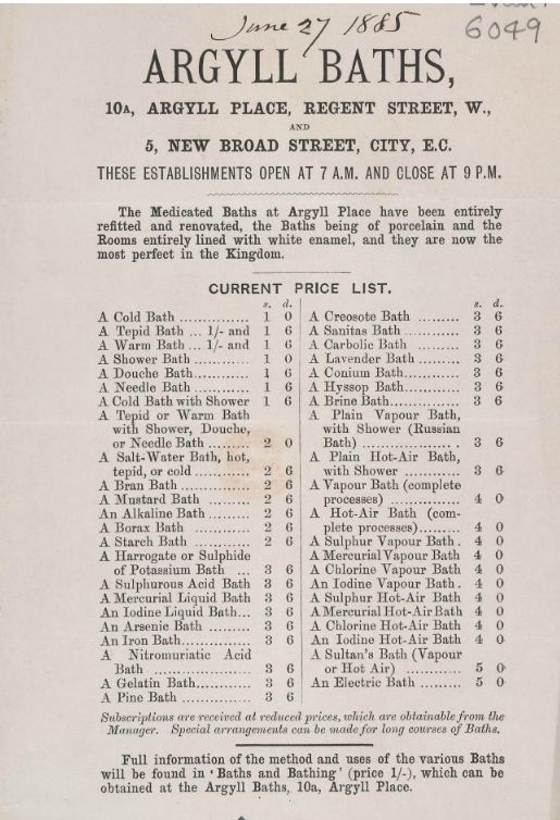 1885 advertisement sheet (Source: British Library)