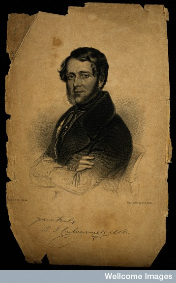 Portrait R.J. Culverwell, Stipple engraving by W. F. Holl after S. Chinn (Source: Wellcome Library)
