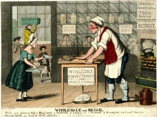 Confectioners' Shop c.1820-1840 (Source: British Museum)