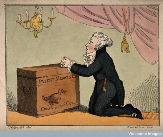 T. Rowlandson and G. Woodward, 1801 (Credit: Wellcome Library, London. Wellcome Images)